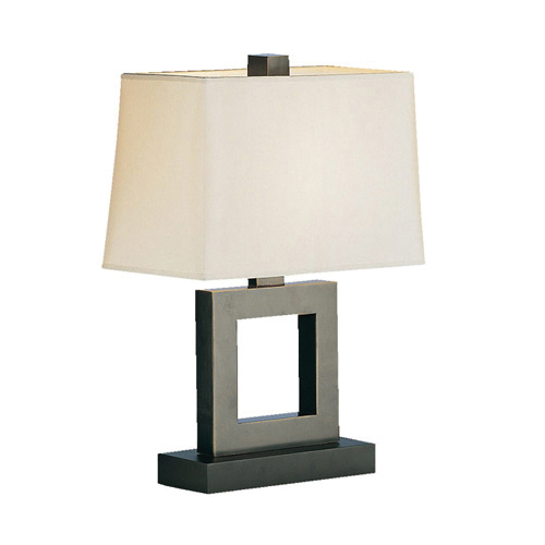 Contemporary Bronze Rectangle Table Lamp