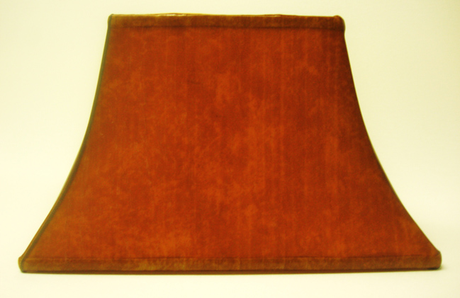Faux Leather Bell Rectangle Lampshade
