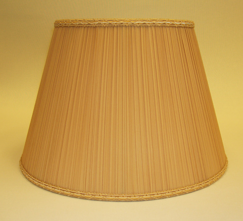 Gold Silk Mushroom Pleated Empire Lampshade